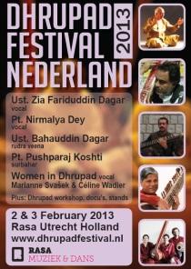 poster dhrupad festival utrecht 2013